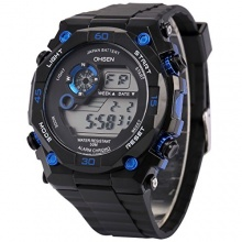 AMPM24 Herren Quarzuhr LCD Schwarze Armband OHS199 Bild 1