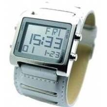 ANIMOO XXL Weiße Digital Leder Uhr Herrenuhr Alarm Bild 1