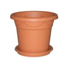 1,8 Liter Blumentopf rund d 18 cm h 15 cm inkl. Untersetzer Bild 1