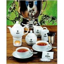 EILLES Tee Geschirrset Komplett 10 Teile, Darboven Teeservice  Bild 1