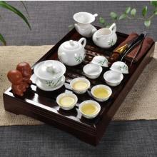 Ufingo Bambusblatt Teeservice mit Tee Tray Bild 1