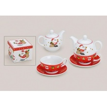 Tea for one Weihnachten Set 3-teilig Teeservice  Bild 1