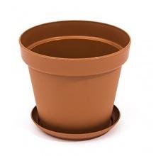 3 Liter Blumentopf rund d 19 cm h 14 cm Bild 1