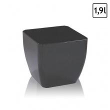 1,9 Liter Blumentopf quadratisch grau Glanz Bild 1