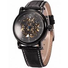 KS Herrenuhr Skelettuhr Automatik Uhr Leder Armbanduhr Bild 1