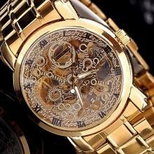 LZX Gentleman Herren Goldene Stahl automatische Luxus-Uhren Bild 1