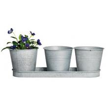 Esschert Design Blumentopf, Übertopf 3er-Set Bild 1