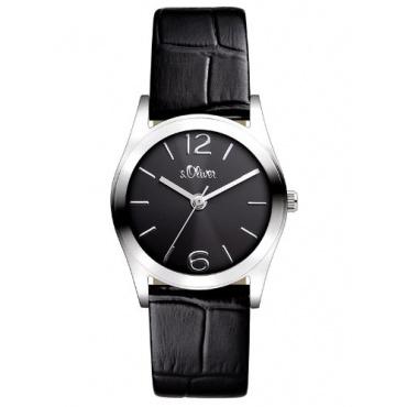 s.Oliver Damen-Armbanduhr XS Analog Quarz Leder SO-2621-LQ Bild 1