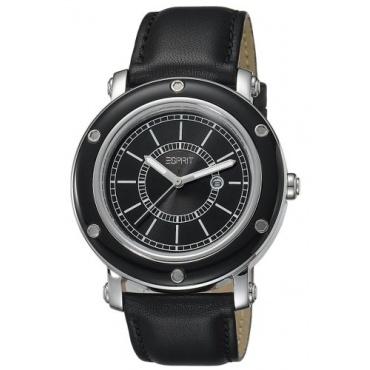 Esprit Damen Deco Black Analog Quarz Leder ES104042002 Bild 1