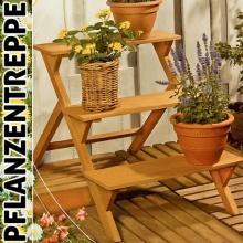 Blumentreppe mit 3 Ebenen in Holz Bild 1