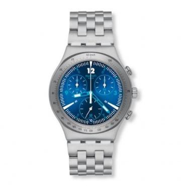 Swatch Unisex Classic Rhythmic Blue Chronograph Quarz YCS575G Bild 1