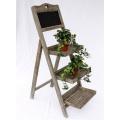 Blumentreppe 12061 aus Holz mit Kreidetafel H-110cm Bild 1