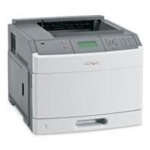 Lexmark T650n monochrom Laserdrucker weiß/grau Bild 1