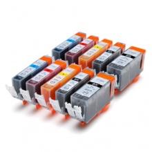 10 Druckerpatronen mit CHIP Canon Bild 1
