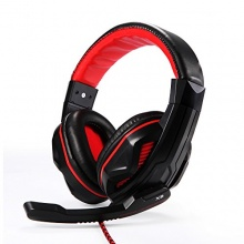 EasyAcc Zweikanal Stereo Gaming Kopfhörer Rot Bild 1