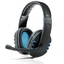 CSL KEM-613 USB Headset Gamingheadset schwarz/blau Bild 1