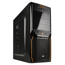 Aerocool EN57448 Midi-Tower PC-Gehäuse schwarz/orange Bild 1
