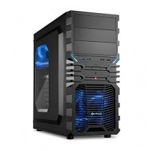 Sharkoon VG4-W Blau PC-Gehäuse mit Window Kit schwarz/blau Bild 1