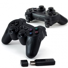 CSL 2 Wireless USB Gamepad C210 PC Controller schwarz Bild 1