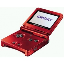 Game Boy Advance SP Konsole, Flame Red Bild 1