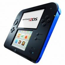 Nintendo 2DS Konsole schwarz/blau Bild 1