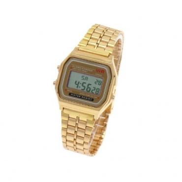 Digital Retro Design Klassisch Uhr Gold Bild 1