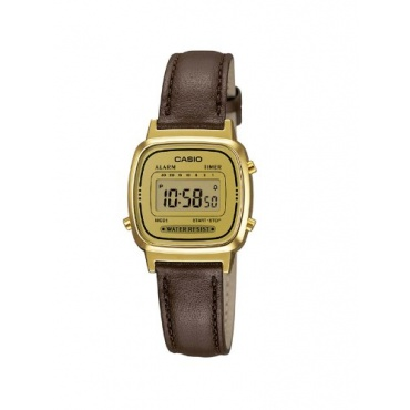 Casio Unisex Casio Collection Digital Quarz Leder LA-670WEGL-9EF Bild 1