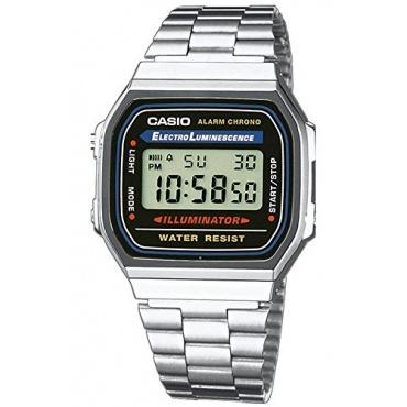 Casio Retro Unisex Uhr Alarm Chrono Digitaluhr A168WA-1WDF Bild 1