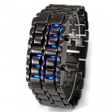 Blau LED Digitaluhr Damen Herren Uhr Sportuhr Quarzuhr Schwarz Bild 1