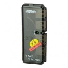 BestOfferBuy Mini Slim High-Speed USB 2.0 4 Ports Hub Schwarz Bild 1