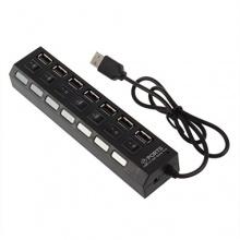 Jiam Schwarz Highspeed 7 Ports USB 2.0 Hub onhe Netzteil Bild 1
