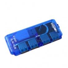 BestOfferBuy Mini Slim High-Speed USB 2.0 4 Ports Hub Blau Bild 1