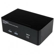 StarTech.com 2 Port Dual DisplayPort USB KVM Bild 1