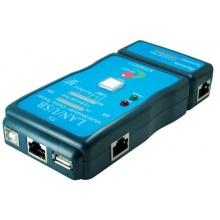 CAT.5 / CAT.6 + USB Leitungstester Kabeltester RJ45 Bild 1