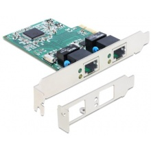 DELOCK PCIe Gigabit LAN 2x +LowPr Bild 1