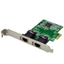 Twin Dual PCI-Express LAN PCI-E Netzwerkkarte Bild 1