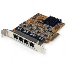 StarTech.com 4 Port Ethernet Netzwerkkarte 4x RJ45 PCI-e Bild 1