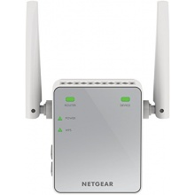 Netgear EX2700-100PES N300 WLAN Range-Extender weiß grau Bild 1