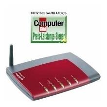 AVM Fritz! Box WLAN 7170 VoIP Router/ADSL2+ Modem 125Mbps Bild 1