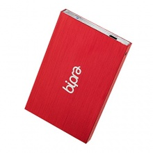 Bipra Tragbare externe Festplatte 2,5Zoll Rot 250 GB Bild 1