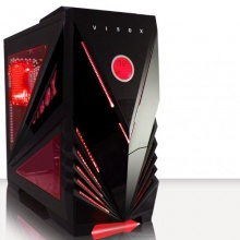 VIBOX Commando Rot Midi Gamer, Gaming PC Gehäuse Tower  Bild 1