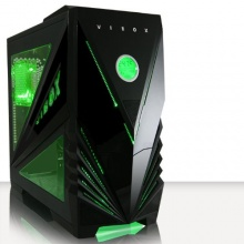 VIBOX Predator Grün Midi Gamer Gaming PC Gehäuse Tower Bild 1