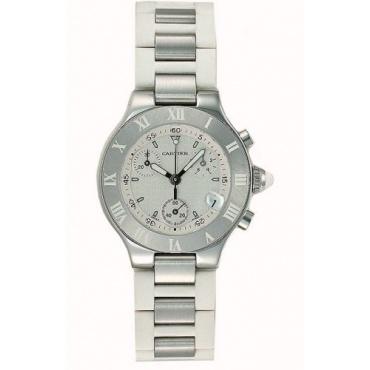 Cartier 21 Chronograph Kollektion Damen Luxusuhr Bild 1