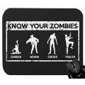 Touchlines Know Your Zombies Mauspad Gaming Black Bild 1