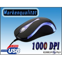 PC Maus Mit Beleuchtung USB PS2 Anschluss NT-M005 Bild 1
