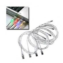 4 Stück USB Kabel A B LED Stecker leuchtend Bild 1