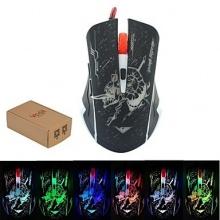 USB verdrahtete kühle Beleuchtung Mäuse Gaming-Maus-Schädel Bild 1