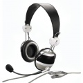 Hama HS-10 Zebra PC-Headset schwarz Bild 1