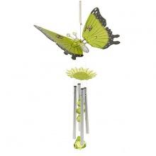 Dekoratives Windspiel Schmetterling Feng-Shui Grün 40cm Bild 1
