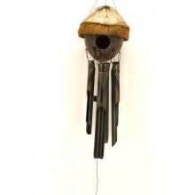 Windspiel mit ganzer Kokosnuss Vogelhaus Feng Shui Bild 1